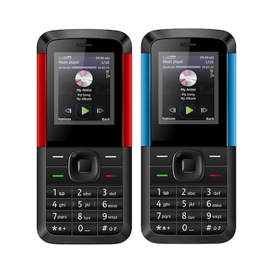 I Kall K5310 Dual Sim, 1.8 Inch Display,1000 mAh Battery,FM, Bluetooth Set of 2 (Black, 64MB) Price in India