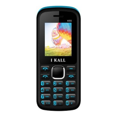 I Kall K55 with 1.8 Inch Display, Dual SIM,Bluetooth Supports (Black and Blue, 256MB&Below RAM) Price in India