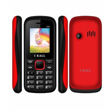I Kall K55 with 1.8 Inch Display, Dual SIM,Bluetooth Supports (Black and Red, 256MB&Below RAM) Price in India