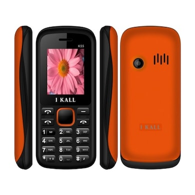 I Kall K55 with 1.8 Inch Display, Dual SIM,Bluetooth Supports (Black and Orange, 256MB&Below RAM) Price in India