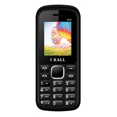 I Kall K55 with 1.8 Inch Display, Dual SIM,Bluetooth Supports (Black and White, 256MB&Below RAM) Price in India