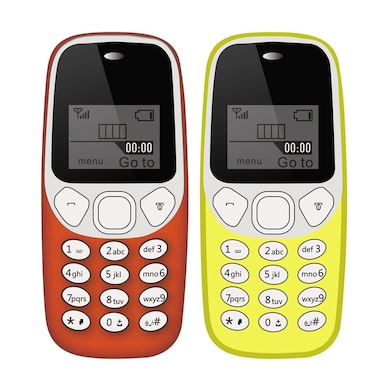 I Kall K71 Combo of Two,USB Connectivity,1000 mAh Battery (Red and Yellow, 64MB) Price in India