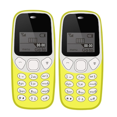 I Kall K71 Combo of Two,USB Connectivity,1000 mAh Battery (Yellow, 64MB) Price in India
