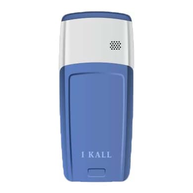 I Kall K72 1.44 Inch Display, LED Torch, Single SIM (Blue and White) Price in India
