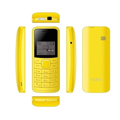 I Kall K73 1.44 Inch Display, Torch, Single Sim (Yellow) Price in India
