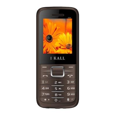 I Kall K88 Dual Sim,FM,Bluetooth (Brown, 256MB&Below RAM) Price in India