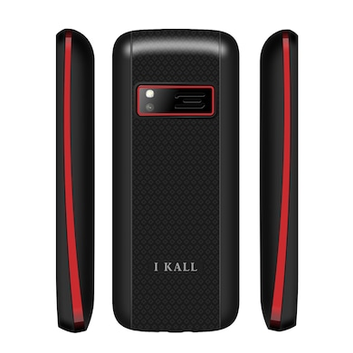 I Kall K88 Dual Sim,FM,Bluetooth (Black and Red, 256MB&Below RAM) Price in India