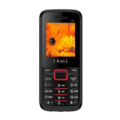 I Kall K88 Dual Sim,FM,Bluetooth (Black and Red, 256MB&Below RAM) Price in India