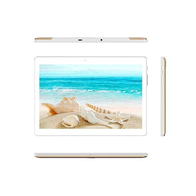 I Kall N10 4G Calling Tablet with 10.1 Inch Display (1 GB RAM, 16 GB) White and Gold Price in India