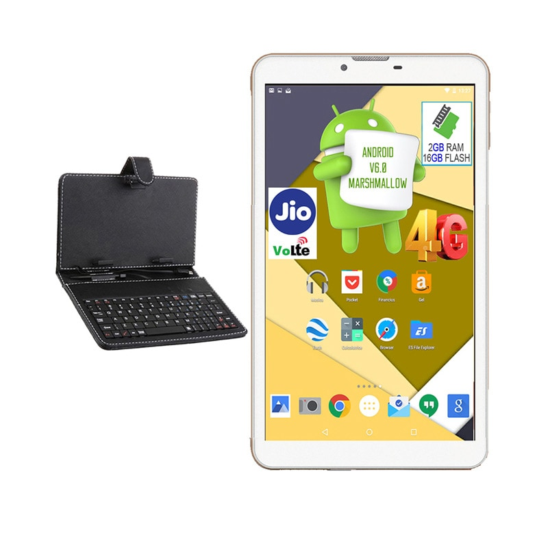 Buy I Kall N5 VoLTE 4G Wifi Voice Calling Tablet With Keyboard White, 16 GB online