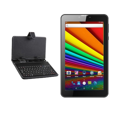 I Kall N8 White 3G + Wifi Voice Calling Tablet With Keyboard Black,8GB Price in India