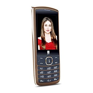 iBall Commando Feature Phone Brown and Gold
