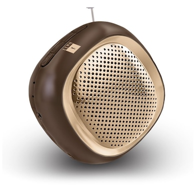 iBall Musi Cube BT20 Portable Bluetooth Speaker Brown Price in India