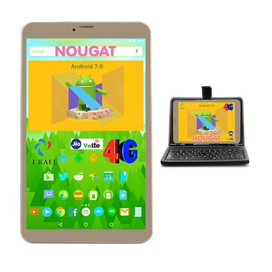 IKall N1 (1 GB RAM, 8 GB) Wi-Fi+4G VoLTE Tablet With Keyboard Gold Price in India