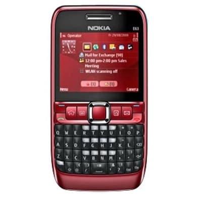 Refurbished Nokia E63 (Red) Price in India