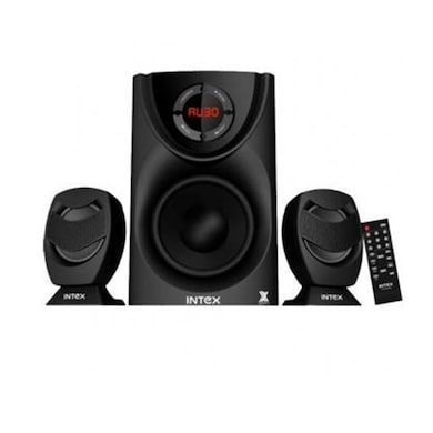 Intex IT-2400FMU OS 2.1 Computer Multimedia Speaker Black Price in India