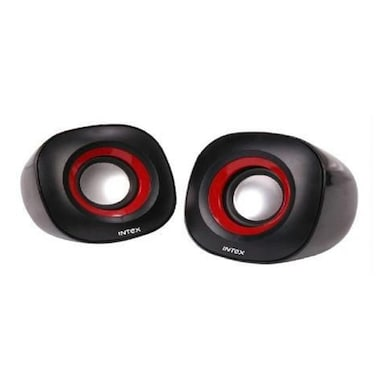 Intex IT-355 2.0 Computer Multimedia Speaker Red and Black Price in India