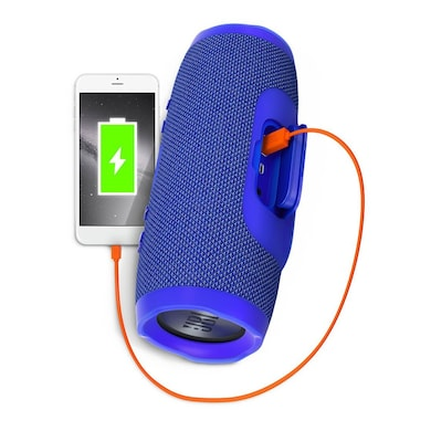 JBL Charge 3 Waterproof Portable Bluetooth Speaker with Built-in Powerbank Blue Price in India
