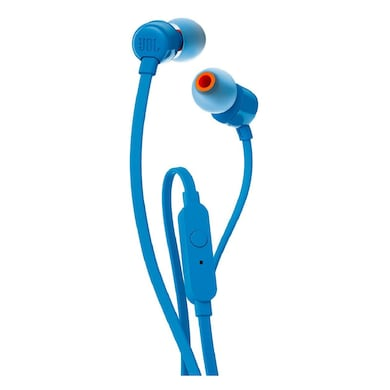 JBL T110 In-Ear Headset with Mic Blue Price in India