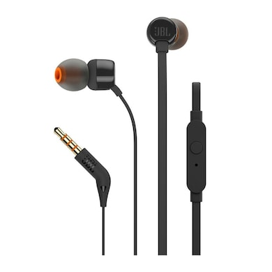 JBL T110 In-Ear Headset with Mic Black Price in India