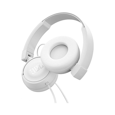 d57a9cafcaa JBL T450 Extra Bass On-Ear Headphones with Mic White Price in India ...