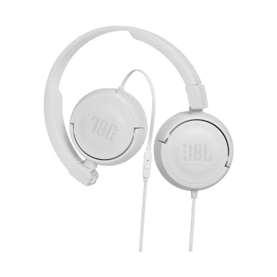 JBL T450 Extra Bass On-Ear Headphones with Mic White Price in India