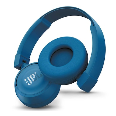 JBL T450 Extra Bass On-Ear Headphones with Mic Blue Price in India