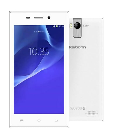 Karbonn A6 Turbo (White, 512MB RAM, 4GB) Price in India