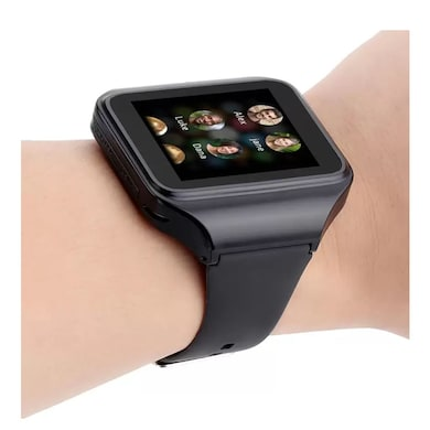 Kenxinda GSM SIM with Bluetooth Smartwatch (Black Strap Regular) Price in India