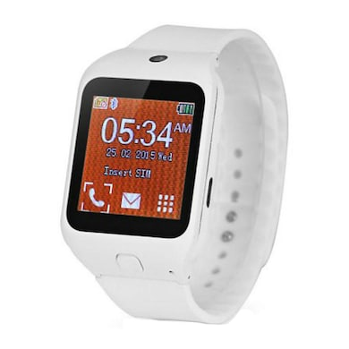 Kenxinda W3 Single Sim Smart Watch With Bluetooth Device 1.44 Inch (White) Price in India