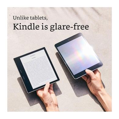 Kindle Oasis - 7 Inch High Resolution Display, Waterproof, 32 GB, WiFi + Free 3G Black Price in India