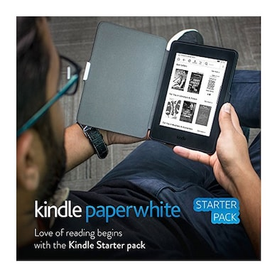 Kindle Starter Pack with 7th Gen Kindle Paperwhite WiFi+ NuPro SlimFit Cover for Kindle Paperwhite Black Price in India