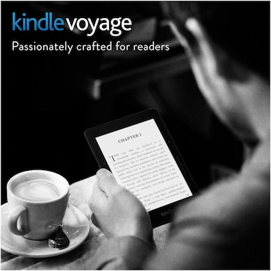 Kindle Voyage 6 Inch High Resolution Display With Adaptive Built-in Light and PagePress Sensors WiFi Black Price in India