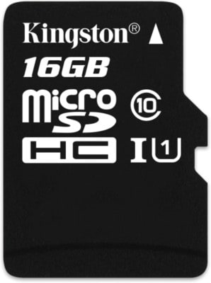 Kingston 16 GB Class 10 MicroSDHC Memory Card 16 GB Price in India