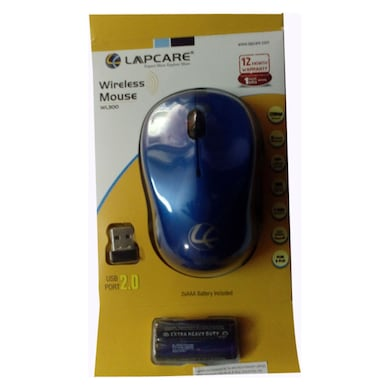 Lapcare WL 300 Wireless Optical Mouse Blue Price in India