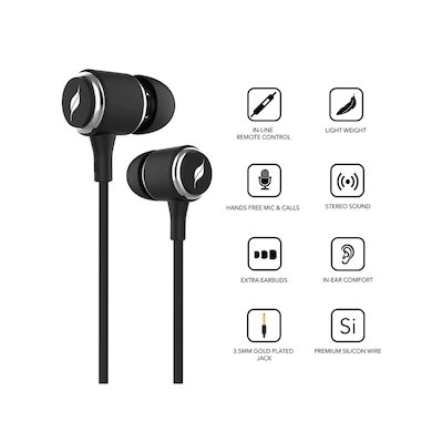 58b402c271c ... Leaf Metal Wired Earphones with Mic and in-Line Remote Carbon Black  Price in India ...