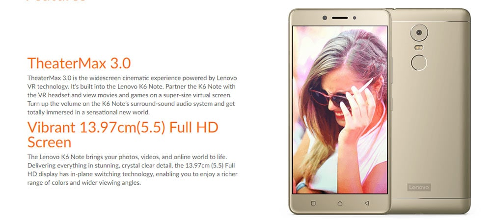 Lenovo K6 Note With 3 GB RAM Photo 7