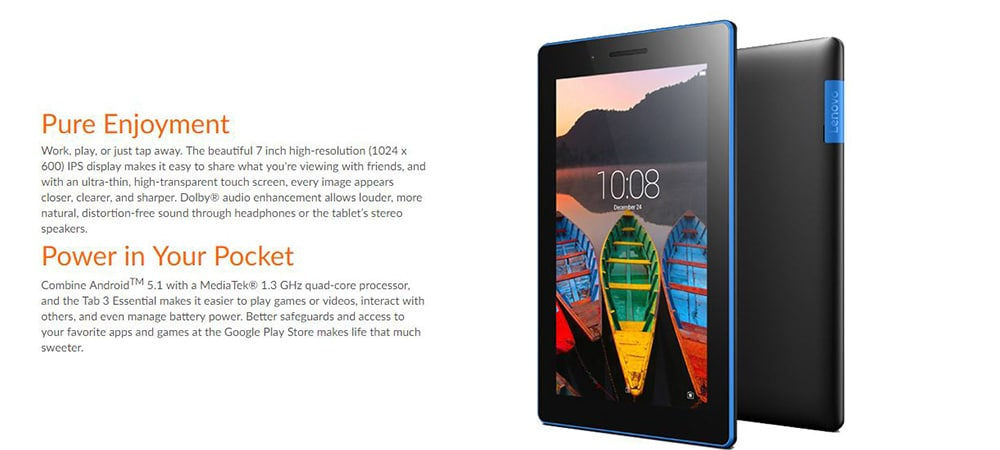 Lenovo Tab 3 Essential 710i Wi-Fi+3G Tablet Photo 4