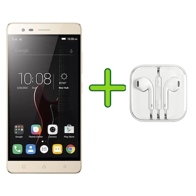 Refurbished Lenovo Vibe K5 Note +Free Earphone with Mic for All Android/iPhones (Gold, 3GB RAM, 32GB) Price in India