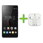 Buy Refurbished Lenovo Vibe K5 Note (4 GB RAM, 32 GB) +Free Earphone with Mic for All Android/iPhones Dark Grey Online