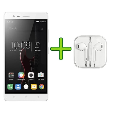 Refurbished Lenovo Vibe K5 Note +Free Earphone with Mic for All Android/iPhones (Silver, 4GB RAM, 32GB) Price in India
