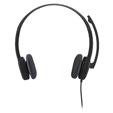 Logitech H151 Analog Stereo Headset With Boom Microphone Black Price in India