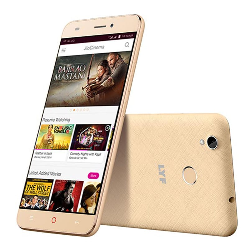 LYF Water 7S Gold, 16 GB images, Buy LYF Water 7S Gold, 16 GB online at price Rs. 6,999