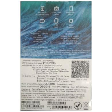 LYF Water 7S Black, 16 GB images, Buy LYF Water 7S Black, 16 GB online at price Rs. 7,099