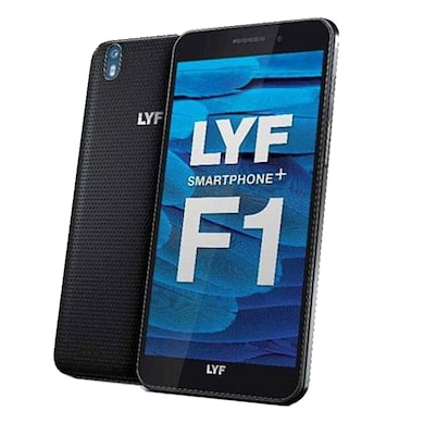 LYF Water F1 Black, 32 GB images, Buy LYF Water F1 Black, 32 GB online at price Rs. 7,220
