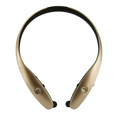 MDI HBS-900 Bluetooth Headphone with Microphone Gold Price in India