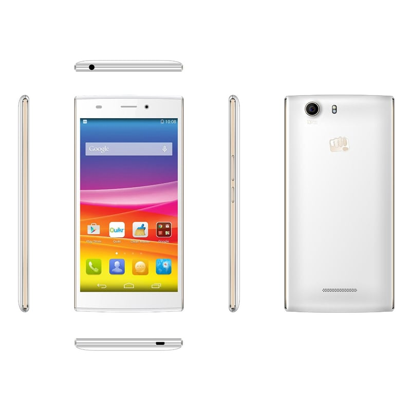 Micromax Canvas Nitro 2 E311 White and Gold, 16 GB images, Buy Micromax Canvas Nitro 2 E311 White and Gold, 16 GB online at price Rs. 5,350