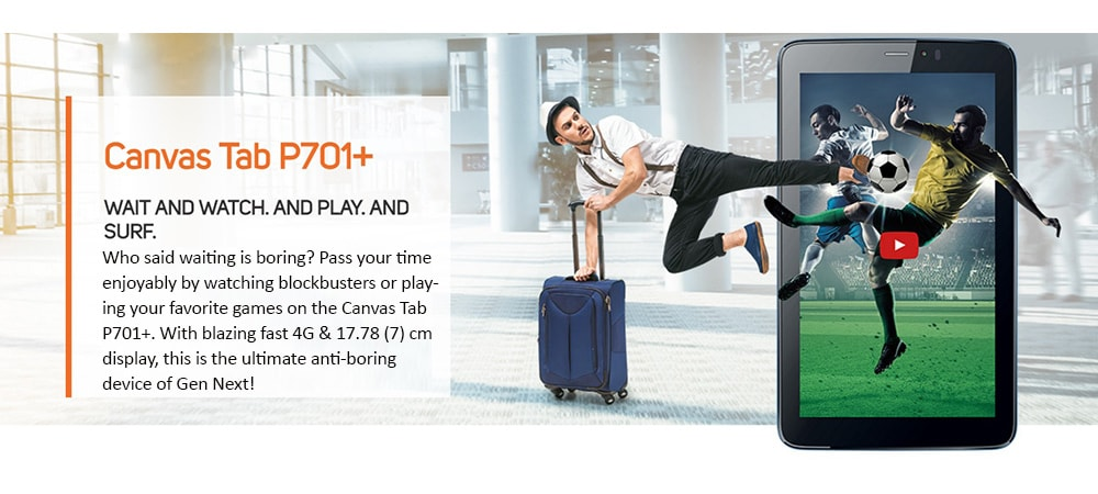 Micromax Canvas Tab P701+ With Wi-Fi+4G Voice Calling Photo 6