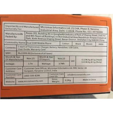 Micromax X556 Dual SIM,FM,Camera (Black, 10MB) Price in India