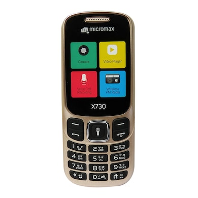 Buy Micromax X730 With Wireless FM Radio (Champagne) Price in India